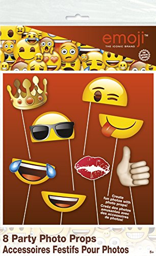 Hilarious Emoji Photo Booth Props 8pc