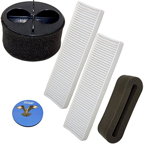HQRP Filter Kit compatible with Bissell CleanView Helix Vacuum 95P1, 82H1, 82H1H, 82H1M, 82H1R, 82H1T Cleaner plus HQRP Coaster