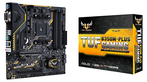 ASUS AMD Ryzen AM4 DDR4 HDMI DVI VGA M.2 USB 3.1 MicroATX B350 Motherboard (TUF B350M-PLUS GAMING) ()