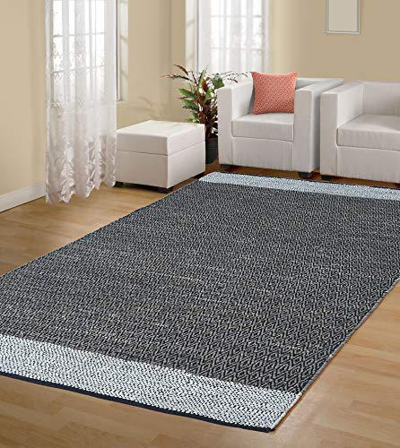Handmade Contemporary Premium Vintage Recycled Leather Area Rug, 8 X 10 Feets (Light Grey), Perfect for Bed Room, Living Room, Kitchen, Kids Room, Loft, Gaming Zone, Office and More. ()