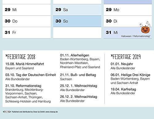Close Up Xxl Schuljahresplaner 20182019 Poster Premium Wandplaner