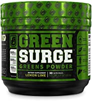Green Surge Green Superfood Powder Supplement - Keto Friendly Greens Drink w/Spirulina, Wheat & Barley Grass, Organic...