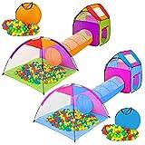 TecTake® Iglu Kinderspielzelt Spielhaus Kinderzelt mit Krabbeltunnel + 200 Bälle + Tasche
