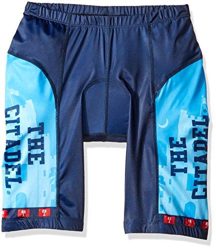 Adrenaline Promotions NCAA Citadel Bulldogs Cycling Shorts, Medium, Blue