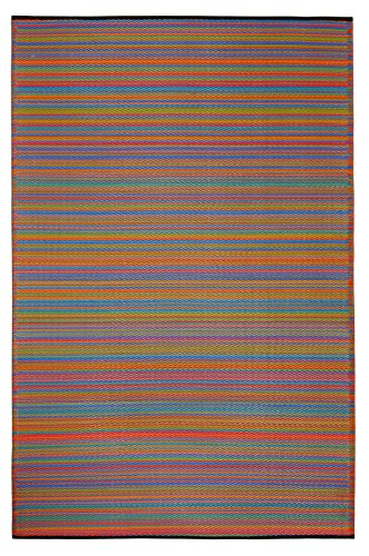 Fab Habitat Cancun Indoor/Outdoor Rug,  Multicolor, (6' x 9')