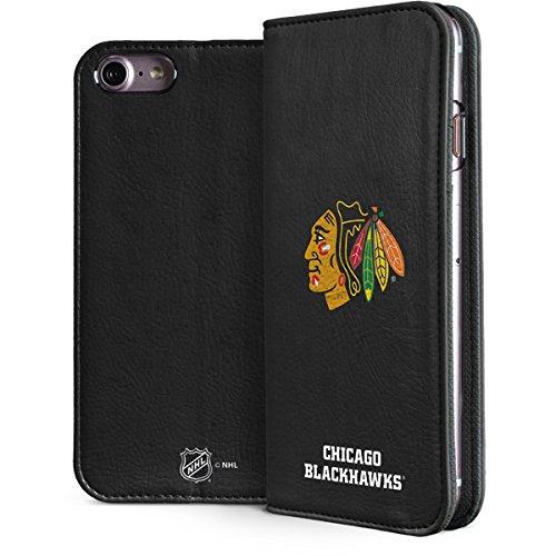 - Skinit NHL Chicago Blackhawks iPhone 7 Folio Case - Chicago Blackhawks Distressed Design - Faux-Leather Wallet Phone Cover