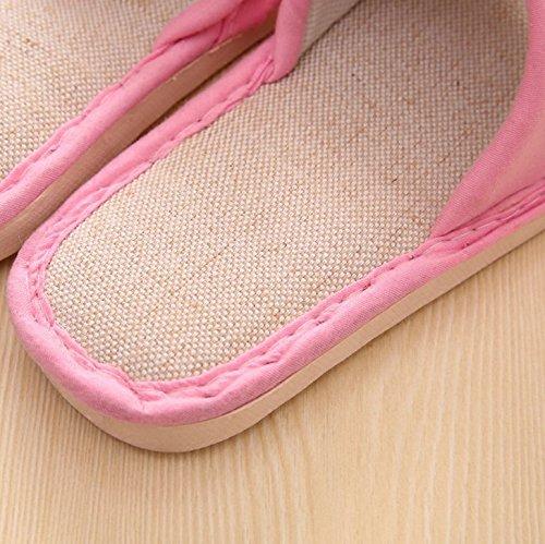En choisissant lchaussons femme coton lin printemps et de lintérieur des couples plancher bois anti-dérapant mignon chaussons homme cool ,dété 44/45 pour 42-43, rayé bleu marine