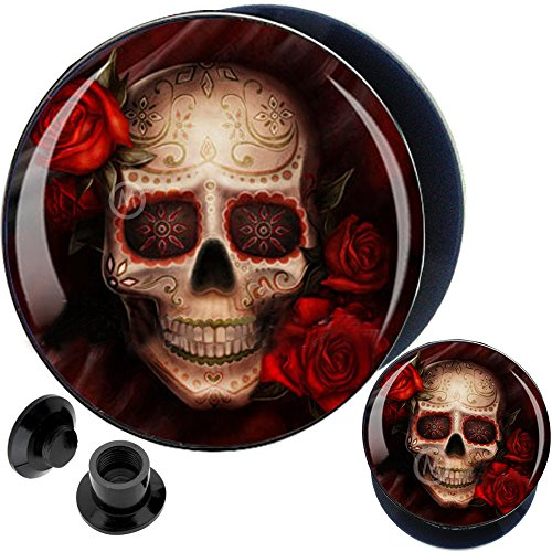 Flare Flesh Tunnel Ear Plug (0g 0 gauges 8mm ear plugs flesh tunnels flare expander stretcher steel piercing MoDTanOiz)