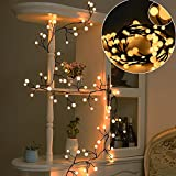 SOLLED Globe String Light, Decorative Wall Hanging String Lights, Warm White 8.2Ft 72 LEDs 8 Modes for Bedroom, Christmas, Outdoor and Indoor Decor