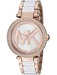 Michael Kors Womens Parker Rose Gold-Tone Watch MK6365
