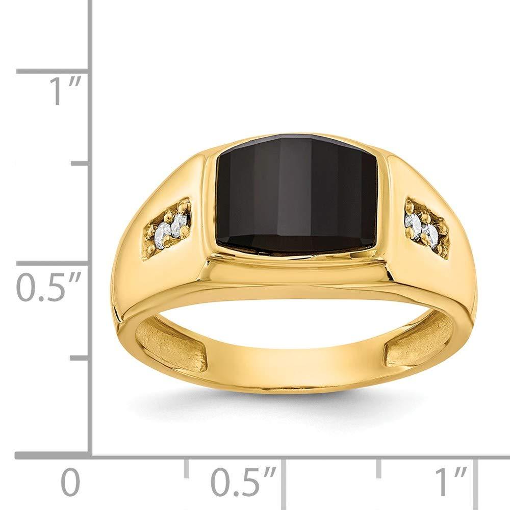 Core Gold 14k Diamond /& Amethyst Birthstone Pendant