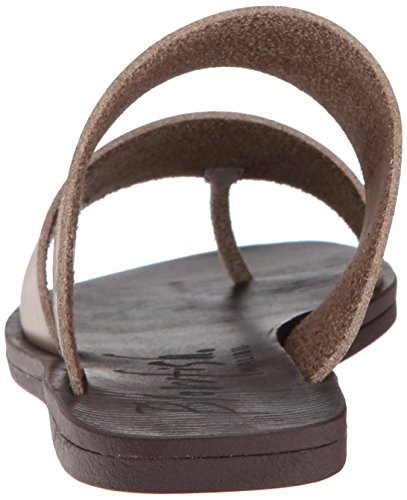 Blowfish Women's Deel Flat Sandal, Black, Medium Birch Dyecut