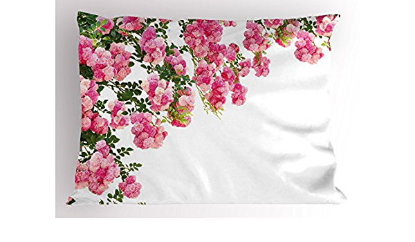 Details about  /Surfer Girl Green Floral Quilted Pillow Sham