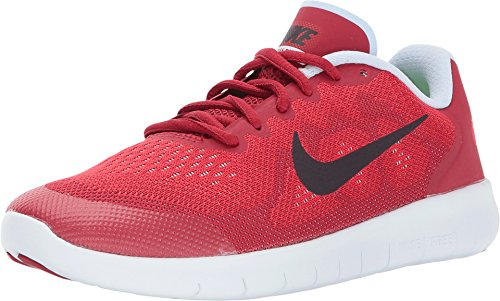 Nike Boys Free RN 2017 Size 5 UniversityRed/PortWine/ToughRed (Boys Nike Free Running Shoes)