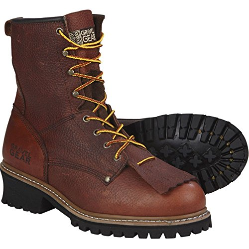 Gravel Gear 8in. Logger Boot (9) by Gravel Gear (Image #2)