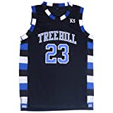 Mens Nathan Scott 23 Ravens Basketball Jersey Stitched Sports Movie Jersey Black (L)