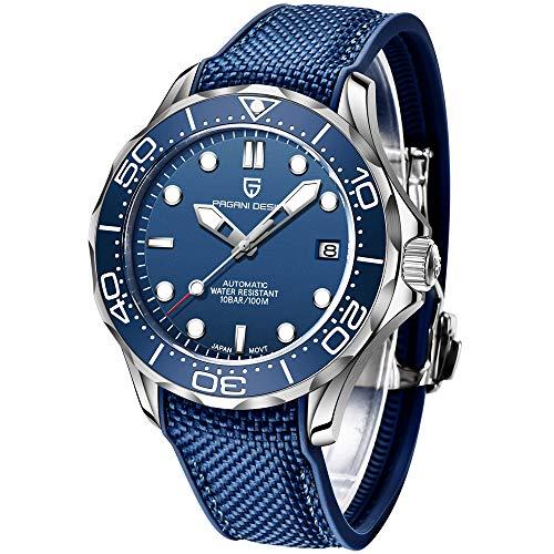 🥇 Pagani Design Original Seamaster Reloj para Hombre