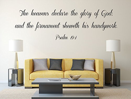 Amazon.com: Psalm 19:1 wall decor, KJV Scripture Wall Art, The ... on kitchen seat ideas, kitchen mural ideas, kitchen panel ideas, kitchen white ideas, kitchen tool ideas, kitchen decor ideas, kitchen plug ideas, kitchen wall ideas, kitchen wood ideas, kitchen knob ideas, kitchen hat ideas, kitchen exhaust ideas, blue and green kitchen ideas, kitchen signs ideas, kitchen label ideas, kitchen embroidery ideas, kitchen tattoo ideas, kitchen decals and stickers, kitchen magnetic ideas, kitchen plate ideas,