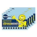 5 x Stressdot Cards with 10 Stressdots - Stress Monitor, Stress Checker, Our unique Stressdots will help to monitor your stress levels and indicate when you are stressed