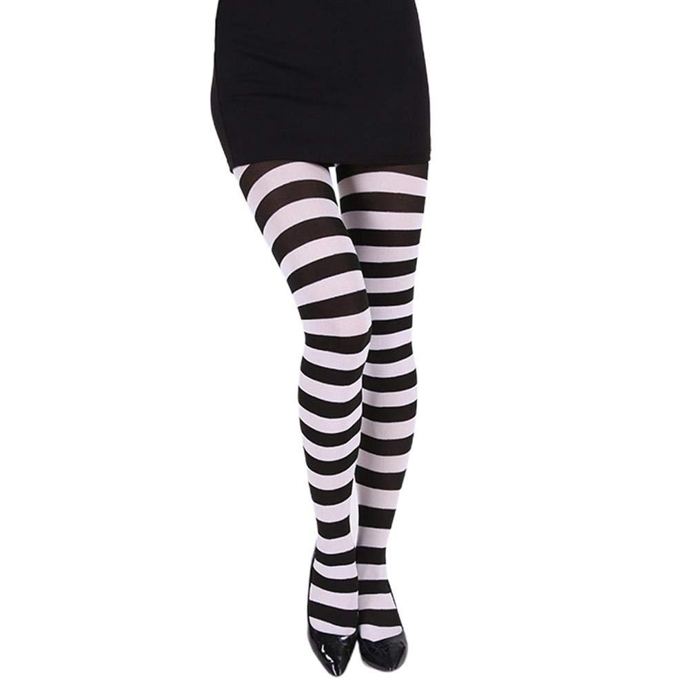 Gravere Collant a righe da donna puntelli per costume calza elastica in pi/ù colori giochi di ruolo per il giorno di Natale di Halloween pretty good beautifully