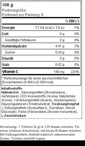 Prozis H2O Infusion 12x9g - Sobre de Bebida de Limonada Fresca para la Hidratación Corporal - Repleto de Vitamina C - Deliciosa, Saludable y Segura ...