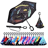 Best Brella Umbrellas - Monstleo Inverted Umbrella,Double Layer Reverse Umbrella for Car Review