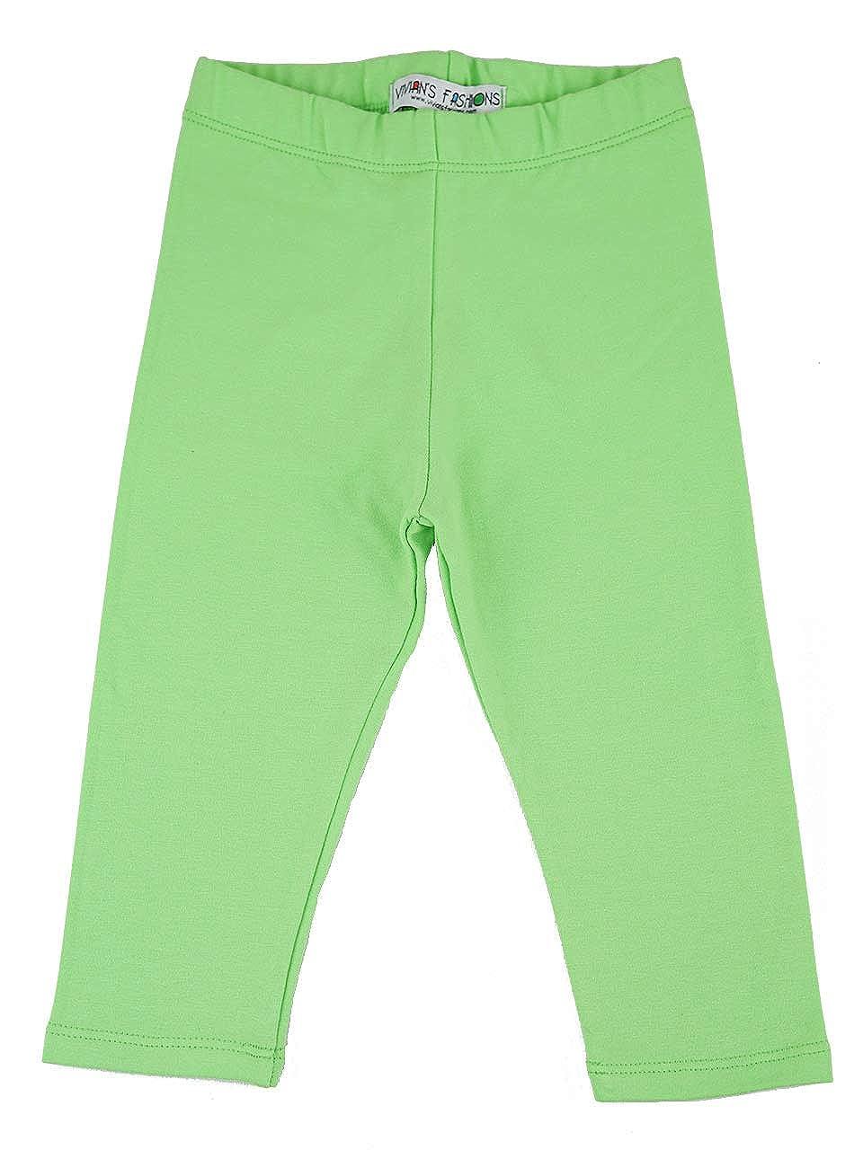 Bulk Vivians Fashions Capri Leggings 6 Pack Cotton Baby Girls