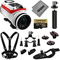 TomTom Bandit 4K GPS 32GB Action Camera Basic Accessory Kit + Chest and Wrist Strap + Bike Mount + Opteka HandGrip + Tripod Adapter