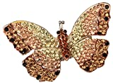Angel Jewelry Women's Crystal Butterfly Stretch Rings (Gold)