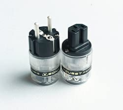 Sonarquest St-age(b) + St-agc(b) Silver Plated Eu Translucent Power Plug & Iec