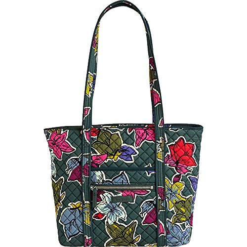Vera Bradley Women's Iconic Small Vera Tote Falling Flowers One Size