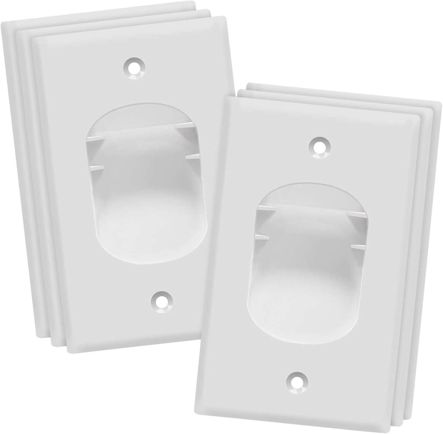 TOPGREENER Recessed Low Voltage Cable Wall Plate for Home Theaters, Size 1-Gang 4.50