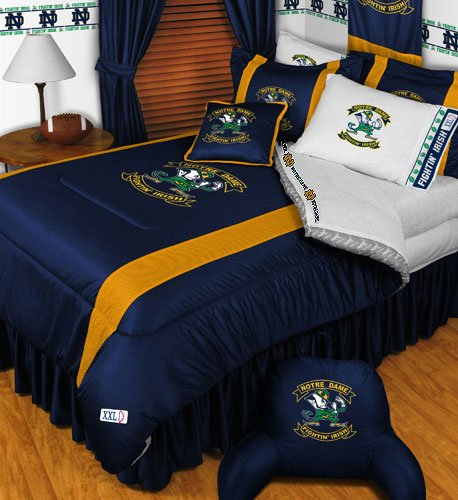 NCAA Notre Dame Fighting Irish - 4pc BEDDING SET - Twin/Single Size (Notre Dame Bedding)