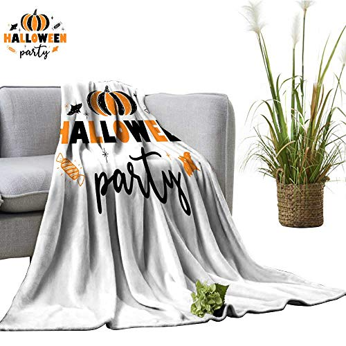 Decorative Throw Blanket A Festive Poster for The Halloween Party Design of a Banner for a Holiday All Season Premium Bed Blanket 70