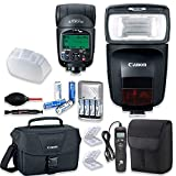 Canon Speedlite 470EX-AI Flash with Canon Speedlite Case + Canon Shoulder Bag + Universal Timer Remote + 4 High Capacity AA Rechargeable Batteries & Charger + Accessory Bundle