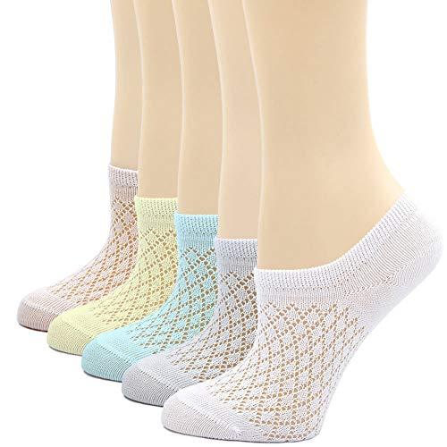 2-11 Anni Animale Cartone Animato Calze alla Caviglia per Ragazze Cotone Calzini per Bambina 5 Paia