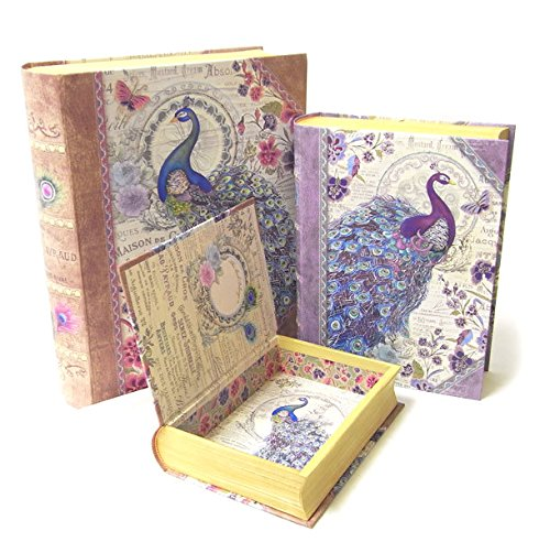 3 Pc Punch Studio Large Nesting Book Box Storage Organizer Set  Bella Peacock