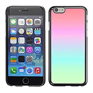 Design for Girls Plastic Cover Case FOR Apple Iphone 6 Plus 5.5 Vibrant Atmosphere Teal Blue Pink Peach OBBA