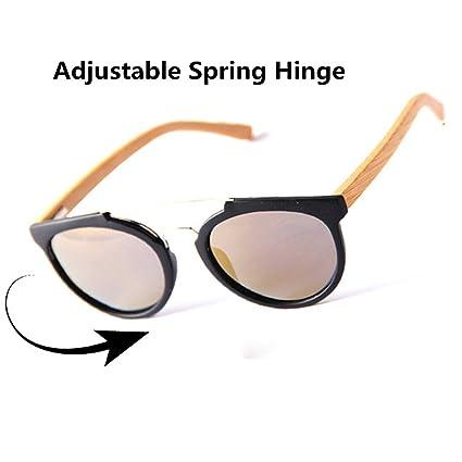 Gafas de Sol Polarizadas Unisex Bamboo Leg TAC Lens Protección UV Hechas A Mano para Hombres