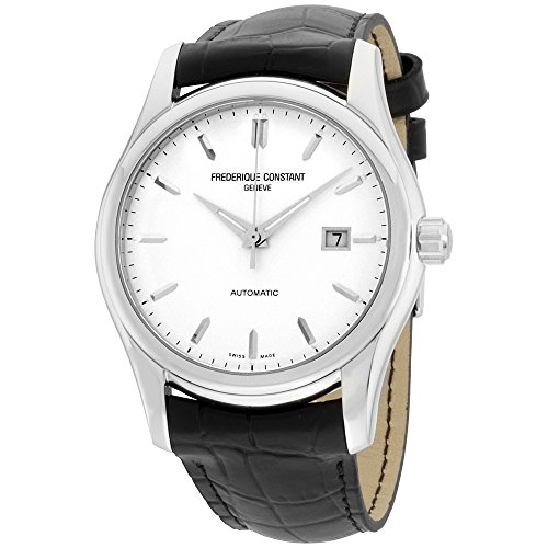 (Frederique Constant Classics Index Automatic Watch - 303S6B6 Silver Dial Black Strap Watch)