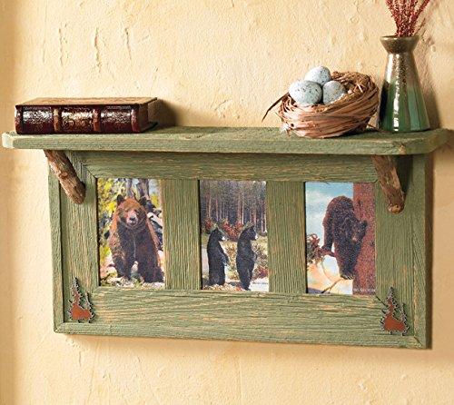 Vintage Black Bears Wall Shelf by Black Forest Decor