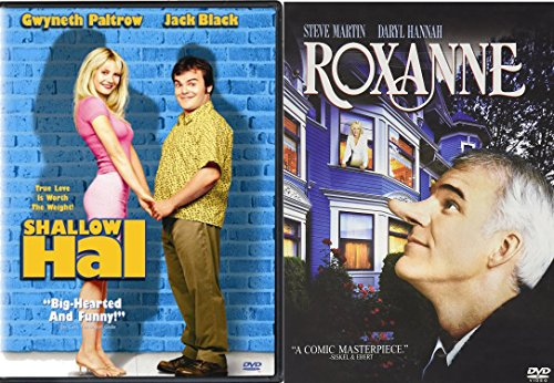 Beauty is in the Eye of the Beholder Romantic Comedy Collection - Roxanne with Steve Martin & Shallow Hal with Jack Black 2-DVD Bundle