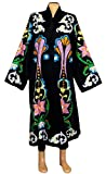 beautiful special silk embroidered Uzbek long jacket coat robe chapan outwear in Ottoman style Must see! B230