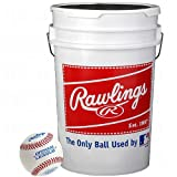 Rawlings R100HS Bucket of 3 Dozen Baseball Non Stamped Practice Ball