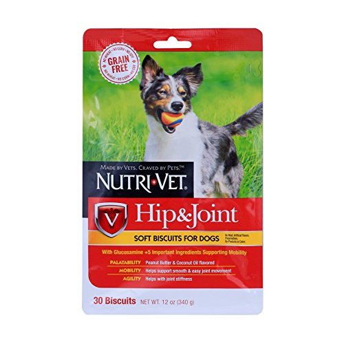 Biscuits Dog Glucosamine (Nutri-Vet Grain Free Hip and Joint Natural Soft Biscuits)