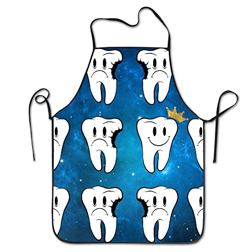 - Crowned Rotten Teeth Dental Dentist Adjustable Bib Chef Aprons Men & Women Kitchen Aprons Easy Care