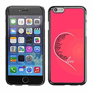 "Shell-Star ( Love Typography Message ) Fundas Cover Cubre Hard Case Cover para 5.5"" iPhone 6 Plus"