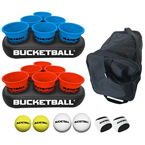 BucketBall - Beach Edition Party Pack - Ultimate Beach, Pool, Yard, Camping, Tailgate, BBQ, Lawn, Water, Indoor, Outdoor Game – Best Gift Toy for Adults, Boys, Girls, Teens, Family (The Ultimate Bbq)