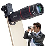 ZBHW 18X Clip-On Telephoto Telescope Camera Mobile Phone Zoom Lens for iPhone X/8 7 Plus/6S Galaxy S8 S7 Huawei and Most Smartphone