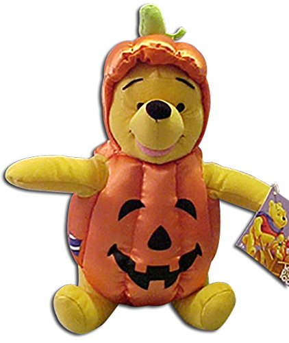Winnie the Pooh Dressed As Pumpkin for Halloween]()